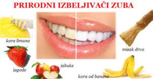 izbeljivanje zuba prirodno