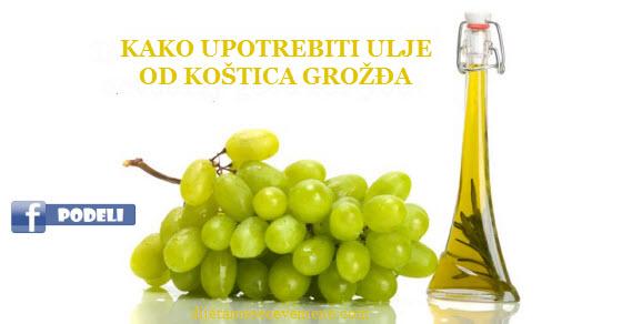 ulje od semenki grozdja za lice