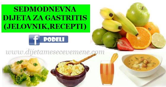 Gastritis dijeta jelovnik – šta jesti