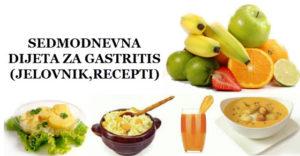 gastritis dijeta jelovnik