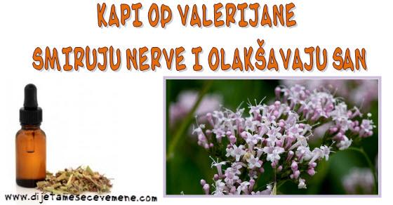 Valerijana kapi za smirenje i dobar san
