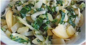 salata od krompira kao prilog uz ribu