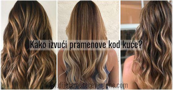 Pramenovi boje meda na smeđu kosu – izvlačenje