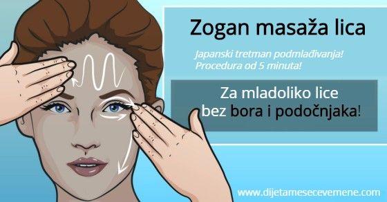 Zogan masaža lica protiv bora i podočnjaka