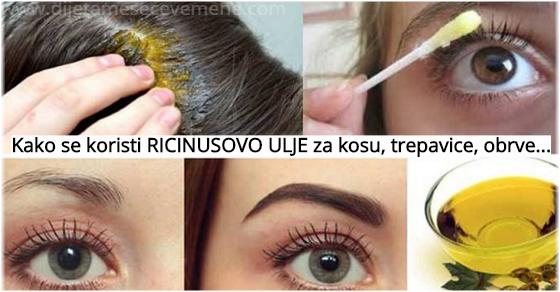 Kako Koristiti Ricinusovo Ulje Za Kosu Lice Bradu Dijeta Meseceve Mene
