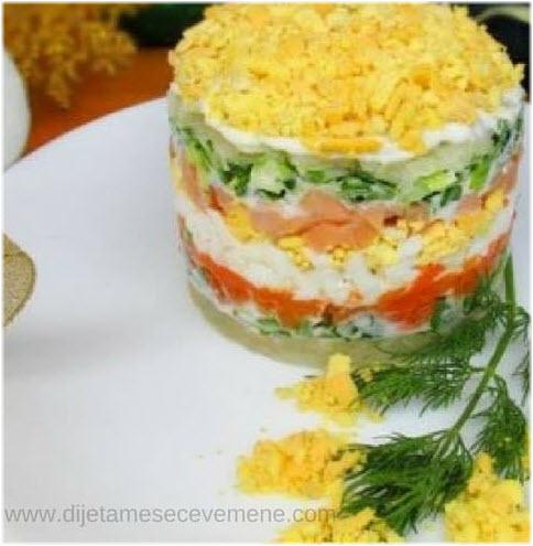mimoza salata za 10 osoba