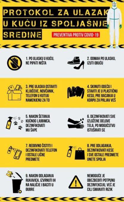protokol za dezinfekciju